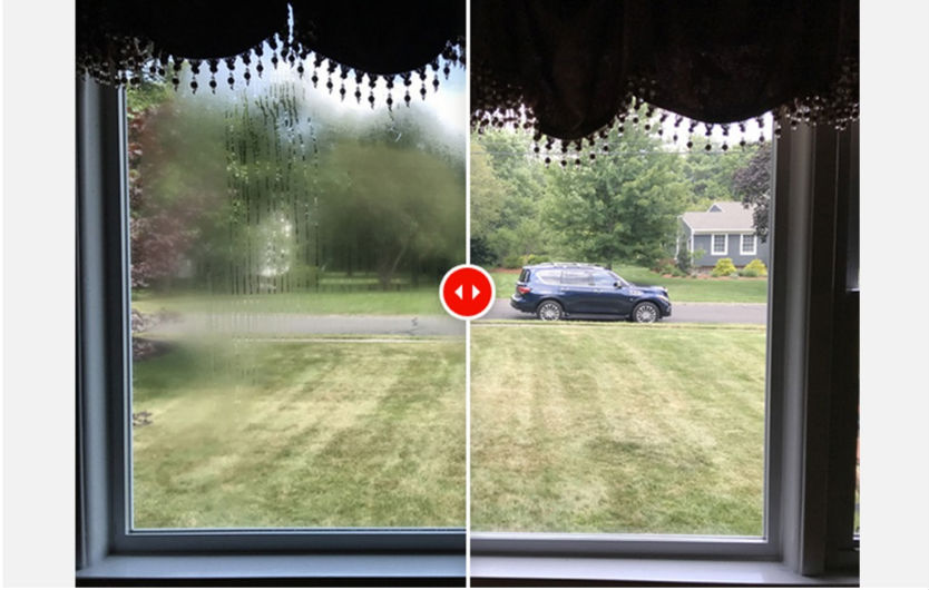 Is it possible to repair a window with fogged glass?