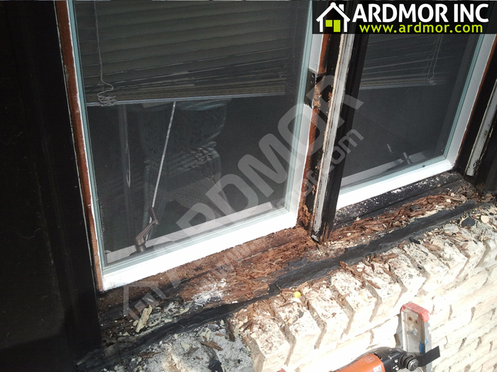 Double_Casement_Window_Sill_Repair_Philadelphia_PA_before