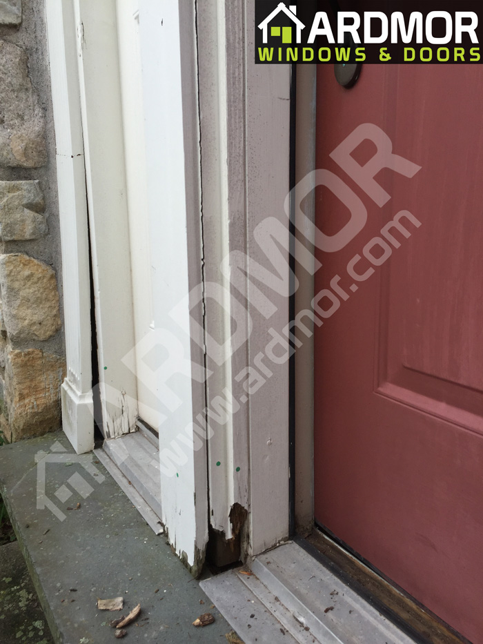 Entry_Door_Frame_Repair_in_Upper_Gwynedd_Township_PA_before