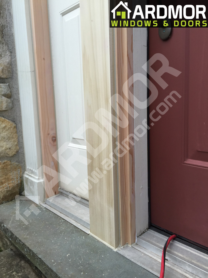 Entry_Door_Frame_Repair_in_Upper_Gwynedd_Township_PA_in_process