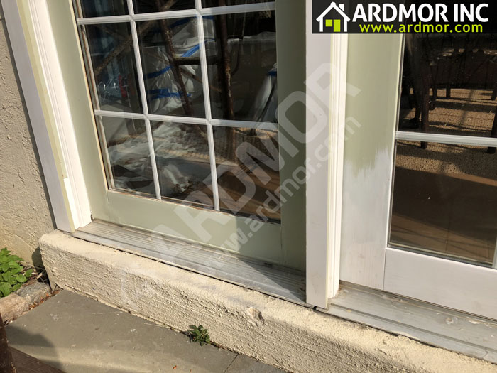French_Door_Frame_Repair_in_Upper_Merion_Township_PA_in_process