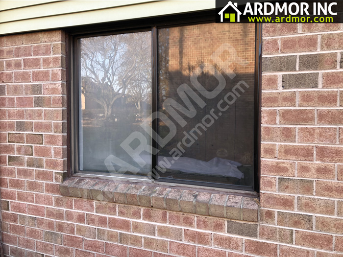 Bronze_Slider_Window_Installation_Abington_PA_before